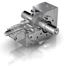 MS Graessner twingear bevel helical gearheads