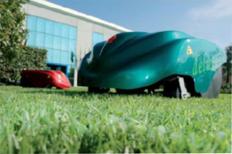 Automated lawn mower application example