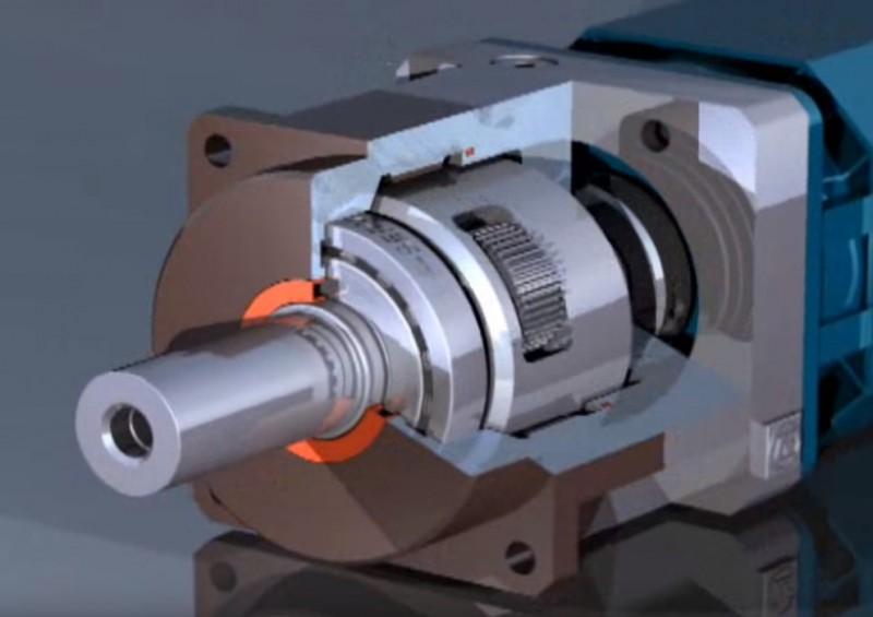 ZF servoplan gearbox animation
