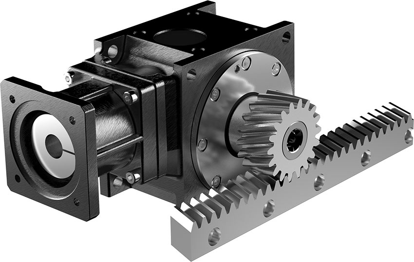 Gear Systems example for rack and pinion applications