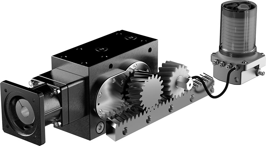 Drive system solutions for rack and pinion applications KS30H