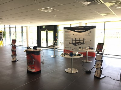 Display stands and demonstration products at Fanuc robotics product awareness day