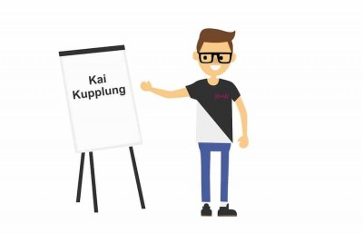 Image of Kai Kupplung, the R+W mascot