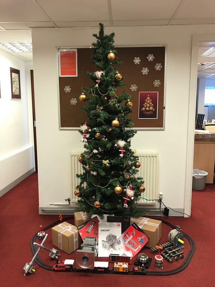 Christmas tree in the Drive Lines office