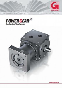 Front cover of PowerGear bevel high speed gearbox catalogue