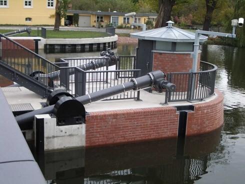 Example of ADE Werk actuators in water management